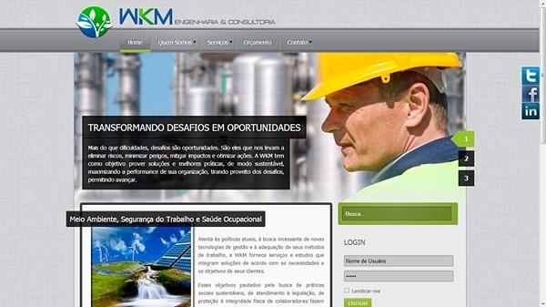 Site para empresa de engenharia - WKM