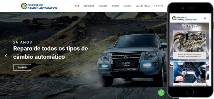 Criação de site para oficina mecânica do Rio de Janeiro