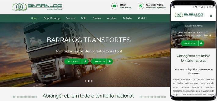 Criação de site para transportadora de Barra Mansa