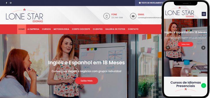Criação de site para curso de inglês