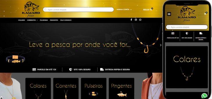 Criação de loja virtual para empresa de joias